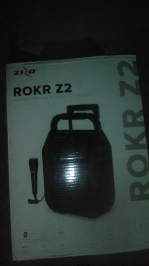 RokR Z2 bring now rugge portable blue tooth speaker I kip charge 12 hour a day I get Fm radio I get remote control for Sale in Webberville, TX