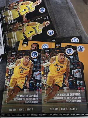 Laker tickets (Christmas day) for Sale in La Mirada, CA