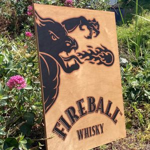 "Fireball Whisky Wall Beer Bar ""New"" Wood Sign for Sale in Pico Rivera, CA"