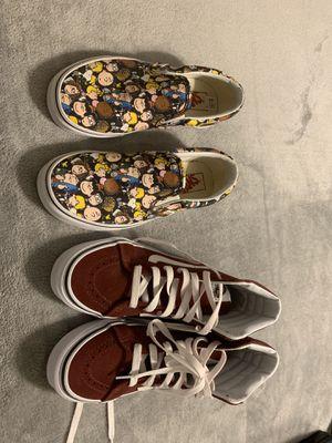 Girls Vans Size 6.5 $30 per pair $50 for both for Sale in Pharr, TX