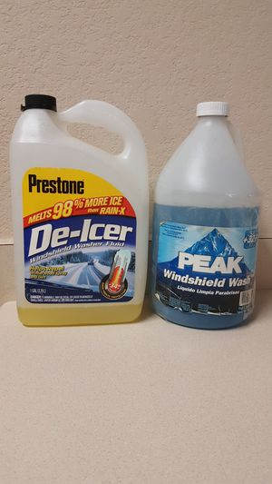 Two Bottles of Windshield Washer Fluid - FIRM PRICE for both for Sale in Leander, TX
