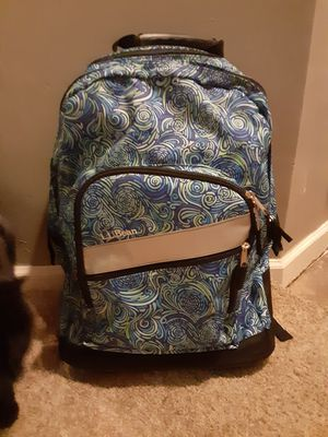 LL Bean rolling book bag for Sale in Greer, SC