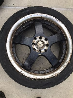 """4 Akuma 17"""" rims with tires for Sale in Egg Harbor City, NJ"""