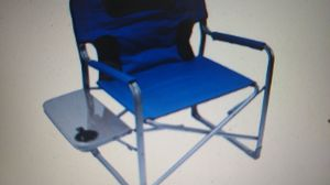 Ozark Trail XXL Folding Padded Director Chair with Slide Table, Blue for Sale in Indianapolis, IN