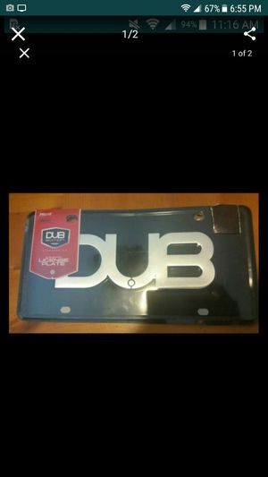 license plate DUB edition for Sale in Raleigh, NC