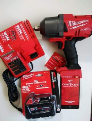 """Milwaukee kit 1/2"""" HIGH IMPACT WRENCH W/ Friction Ring M18/ FUEL/Brushless (2767-20) Battery M18-XC/ Charger M12-M18 : Kit Nuevo for Sale in Los Angeles, CA"""