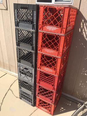 Milk Crates x 7 for Sale in Pomona, CA