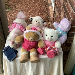 5 Build a Bear Animals Multiple Outfits Shoes Lot for Sale in Choctaw, OK