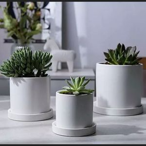 Set of 3 Succulent Pots Small to Large Sized Ceramic Flower Planter Pots for Sale in Commerce, CA