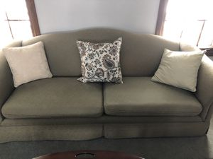 Camel back couch. I'm beautiful shape. Pillows can be included for Sale in Wheaton, IL