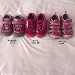 3 Pairs Baby Toddler Shoes Puma & Stride Rite for Sale in Henderson,  NV