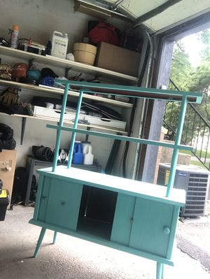 Decorative shelf/cabinet - turquoise for Sale in Saint Paul, MN