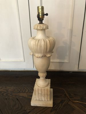 Antique Large Carved Mable Lamp for Sale in New York, NY