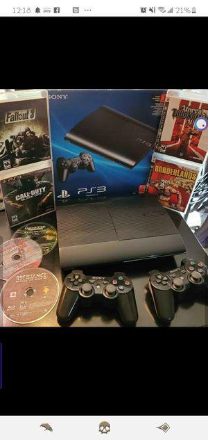 PS3 Super Slim Bundle - Includes games, accessories, and original box for Sale in Bonney Lake, WA