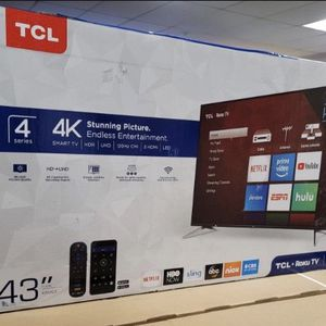 "43"" TCL Roku Smart 4K Led Uhd Hdr Tv for Sale in Fontana, CA"