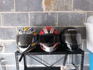 Three Motorcycle Helmets for Sale in UPPR MARLBORO, MD