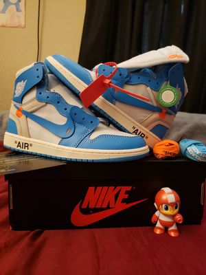 Off White X AIR JORDAN 1 High 'UNC' Size 9 OG NRG StockX VERIFIED AUTHENTIC for Sale in CHAMPIONS GT, FL
