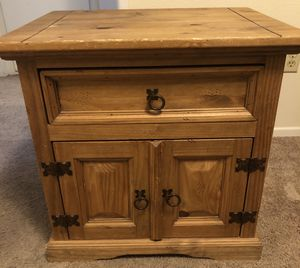 **Solid Wood** Nightstand with drawer and small cabinet for Sale in Los Angeles, CA