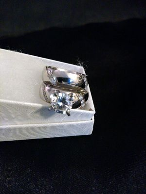 Stainless steel wedding rings size 5 for Sale in Haines City, FL
