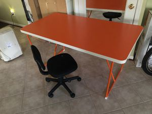 Table with rolling chair for Sale in Fairfax, VA