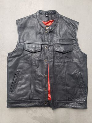 Leather Motorcycle Vest, 48 chest for Sale in Denver, CO