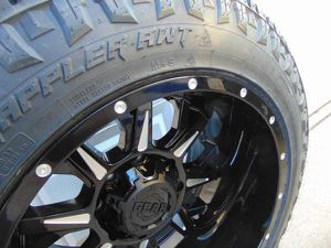 285 55 20 Nitto Exo Grappler 10PLY Tires & Black/Machined 20X12 Rims for Sale in Aurora, CO