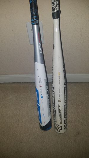 LS and Army of 9 BBCOR baseball bats for Sale in Creedmoor, TX