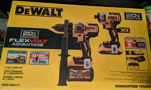 DEWALT 20-Volt MAX Lithium-Ion Cordless Brushless Combo Kit (2-Tool) with FLEXVOLT and 20-Volt Battery and Charger for Sale in Virginia Beach, VA
