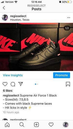 Supreme Air Force 1 Black for Sale in Richmond, TX
