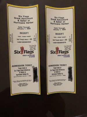2 Six-Flags Great adventure tickets for Sale in Brooklyn, NY