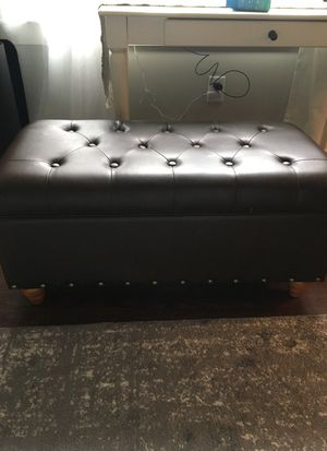 Leather Storage Ottoman- coffee brown for Sale in Nashville, TN