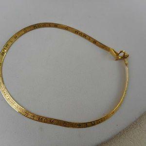 14 K Italuan Gold #1 mom Bracelet 7 3-4 In for Sale in Columbus, OH