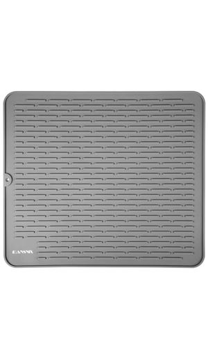 Silicone Dish Drying Mat,MANSNIX Dish Mat for Kitchen, Non-Slip Dish Drainer Mat,Heat-Resistant Silicone Trivet, Easy Clean Dishwasher Safe, Gray XL for Sale in Knightdale, NC
