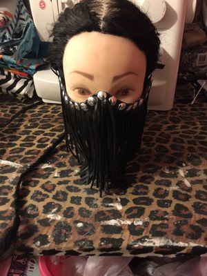 Leather fringe mask for Sale in Hamilton Township, NJ
