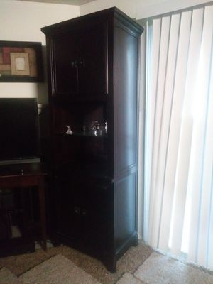 Cherry wood Media Cabinet for Sale in Modesto, CA