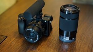 Sony - Alpha a6000 Mirrorless Camera Two Lens Kit with 16-50mm and 55-210mm Lenses - Black for Sale in Portland, OR