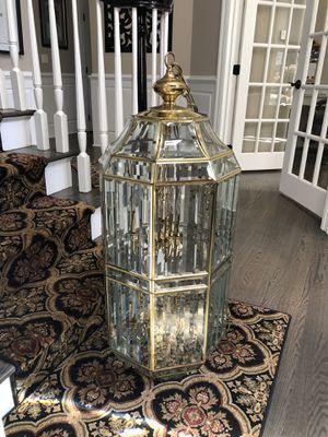 Brass/Glass Birdcage Chandelier for Sale in Burlington, CT