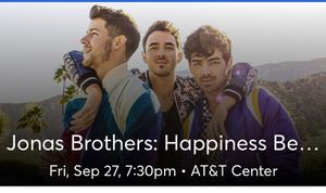 Jonas brothers tickets September 27@7:30 ATT center for Sale in Corpus Christi, TX