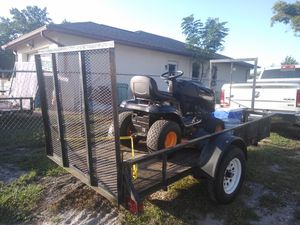 Trailer with lawnmower, weed cutter, blower, ladder and wheelbarrow for Sale in Spring Hill, FL