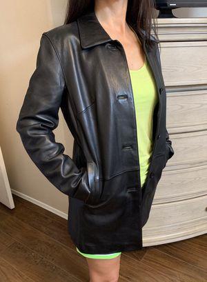 Tahari Black Leather 3/4 Jacket for Sale in Phoenix, AZ