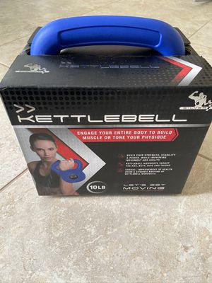 New 10lb kettlebell rubber weights weightlifting curl for Sale in Lake Worth, FL