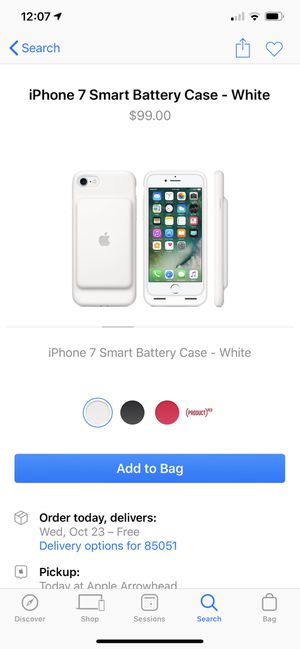 Like New White iPhone 7 Smart Battery Case for Sale in Phoenix, AZ