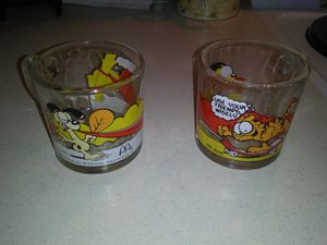 2 Garfield glass mugs for Sale in Pamplin, VA
