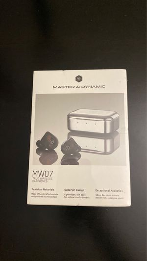 Master & Dynamic MW07TS MW07 True Wireless Earphones - Bluetooth Enabled Noise Isolating Earbuds - Lightweight Quality Earbuds for Music, Tortoiseshe for Sale in Los Angeles, CA
