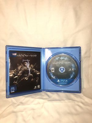 Shadow of war adult owned ps4. for Sale in Tucson, AZ