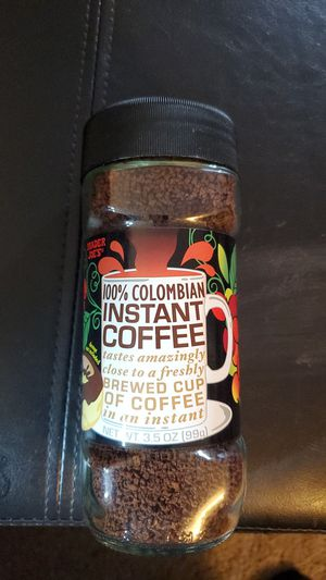 Trader Joe's 100% Colombian instant coffee 13.5 Oz jar expiration 2021 $4 for Sale in San Diego, CA