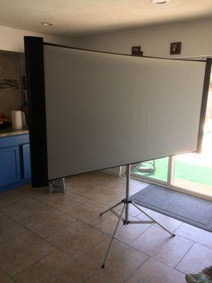 Projector & portable projector screen for Sale in Phoenix, AZ