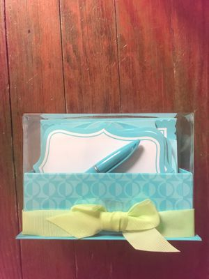 Blue Hallmark stationary paper and pen set for Sale in Washington, DC