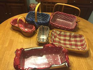 longaberger baskets - set of 5 for Sale in Columbus, OH
