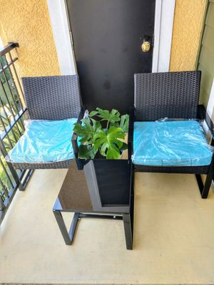 3 piece Brand New Patio Outdoor Furniture Set with Cushions! for Sale in Tampa, FL